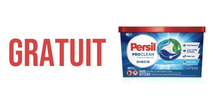 Échantillons gratuits de Disques de détergents à lessive ProClean de Persil.