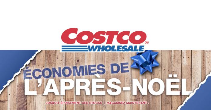 Rabais du Boxing Day sur le site web de Costco