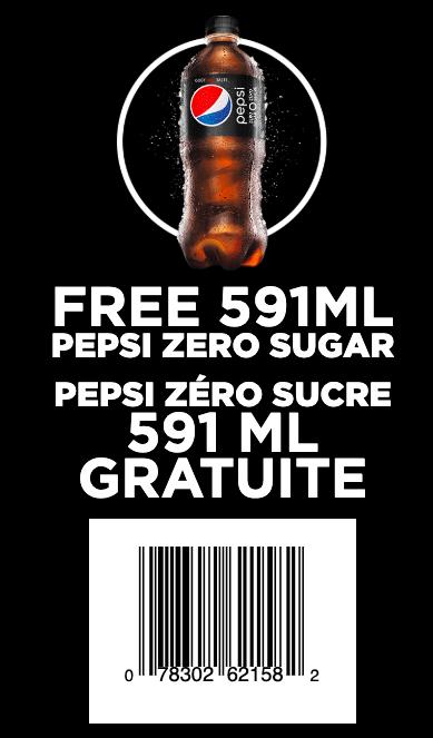 Coupon rabais pour obtenir une bouteille de Pepsi gratuite!