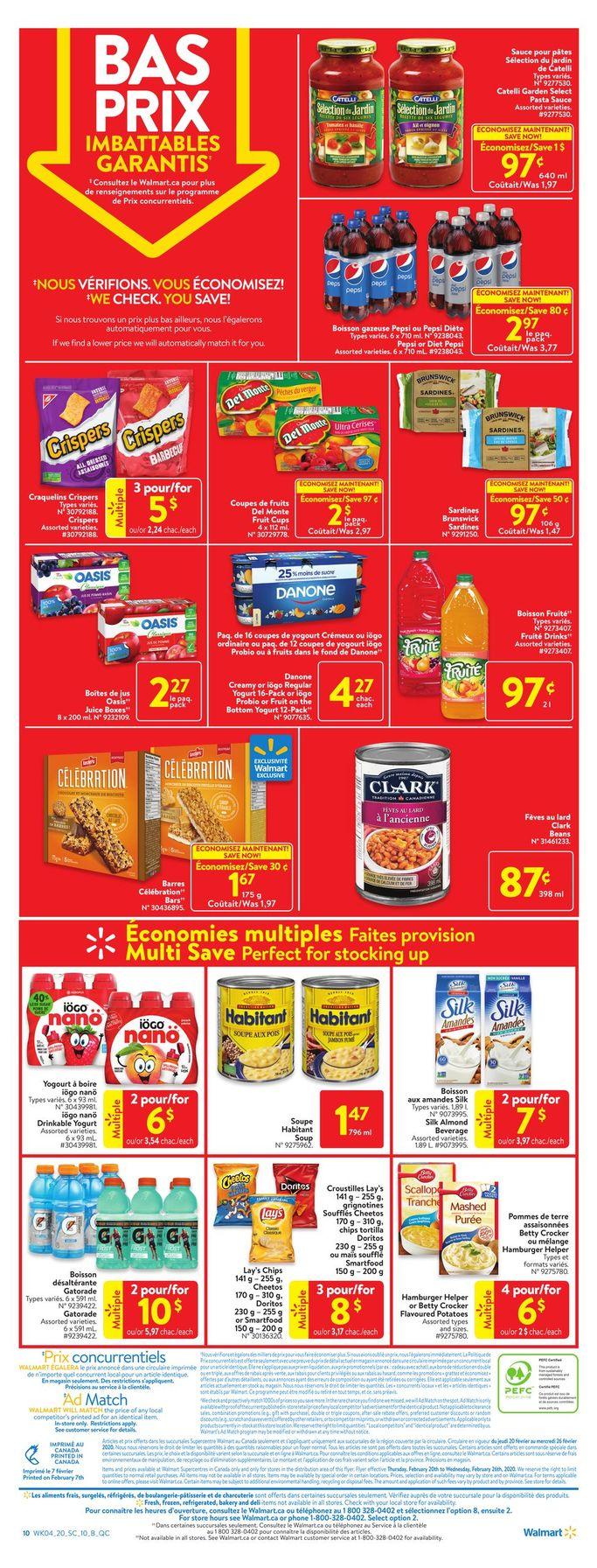 Circulaire Walmart de la semaine