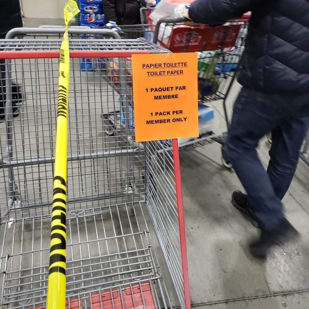 Limite de papier de toilette chez Costco