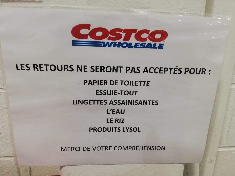 Retours refusés dans les Costco