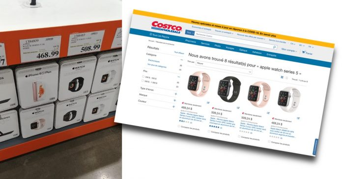 Rabais sur la Apple Watch Series 5 chez Costco