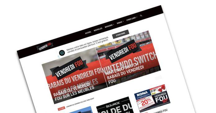 Rabais du Vendredi Fou 2020 sur le site web www.vendredifou.com